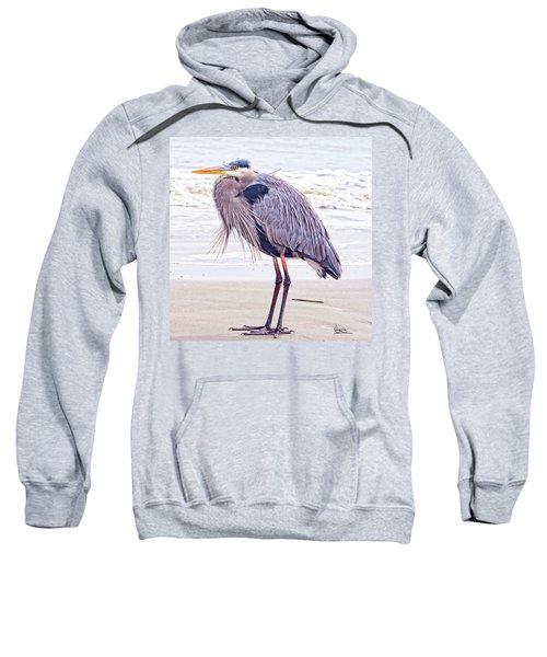 Blue Heron Watching Sweatshirt