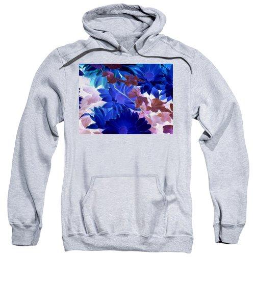 Blue Mums With Purple Ivy Sweatshirt