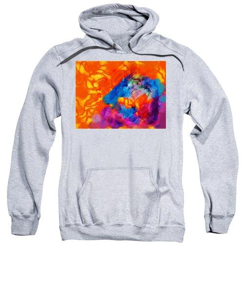 Blue On Orange Sweatshirt