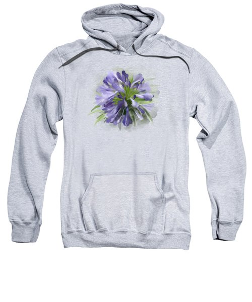 Blue Purple Flowers Sweatshirt