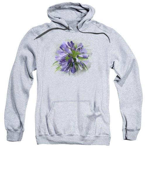 Blue Purple Flowers Sweatshirt