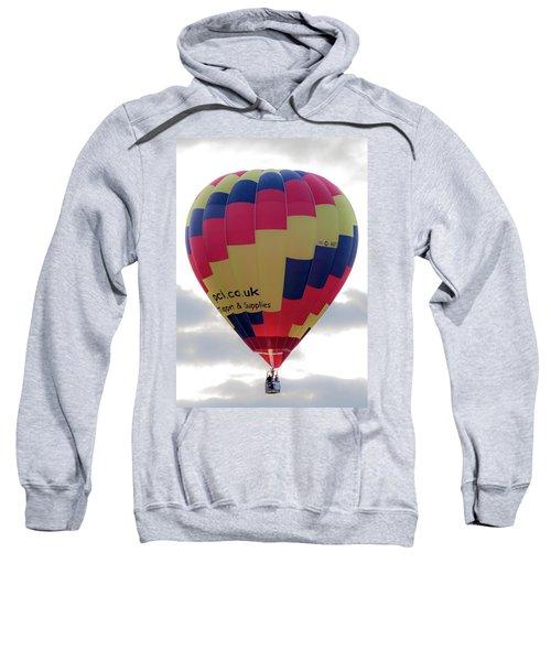 Blue, Red And Yellow Hot Air Balloon Sweatshirt