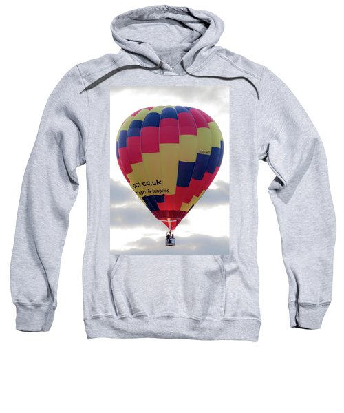 Blue, Red And Yellow Hot Air Balloon Sweatshirt
