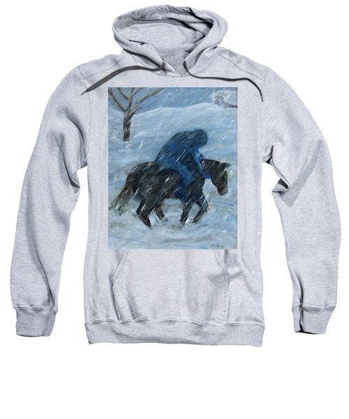 Blue Rider On Horse Sweatshirt