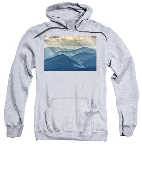 Blue Ridge Sunset Rays Sweatshirt