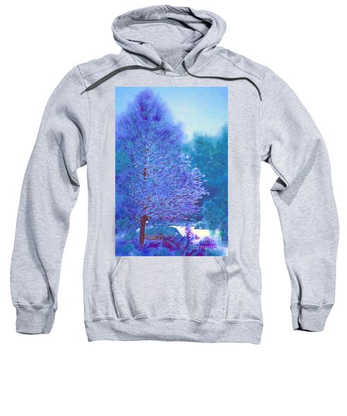 Blue Snow Scene Sweatshirt