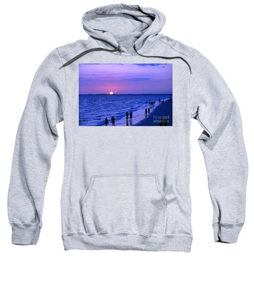 Blue Sunset On The Gulf Of Mexico At Fort Myers Beach In Florida Sweatshirt