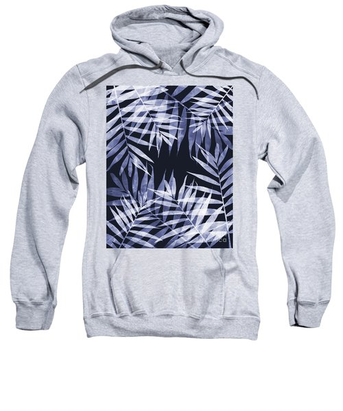 Blue Tropical Leaves Sweatshirt