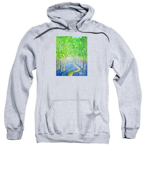 Bluebell Wood With Butterflies Sweatshirt