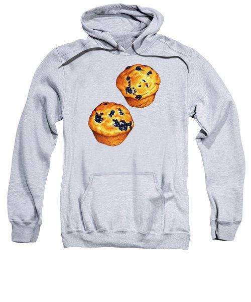 Blueberry Muffin Pattern Sweatshirt by Kelly Gilleran