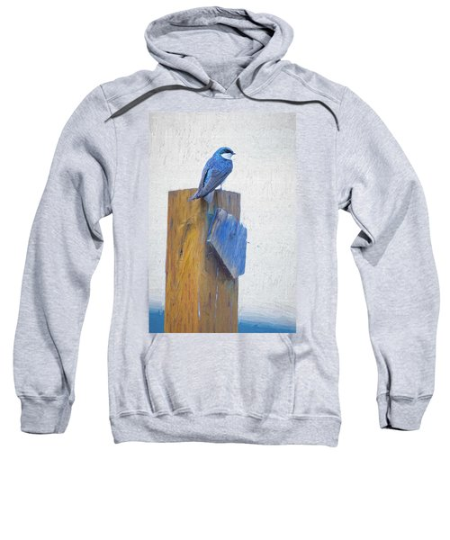 Sweatshirt featuring the photograph Bluebird by James BO Insogna