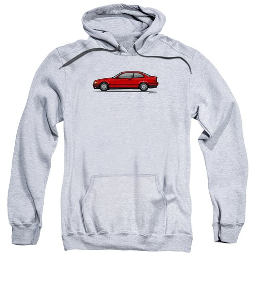 Bmw 3 Series E36 Coupe Red Sweatshirt