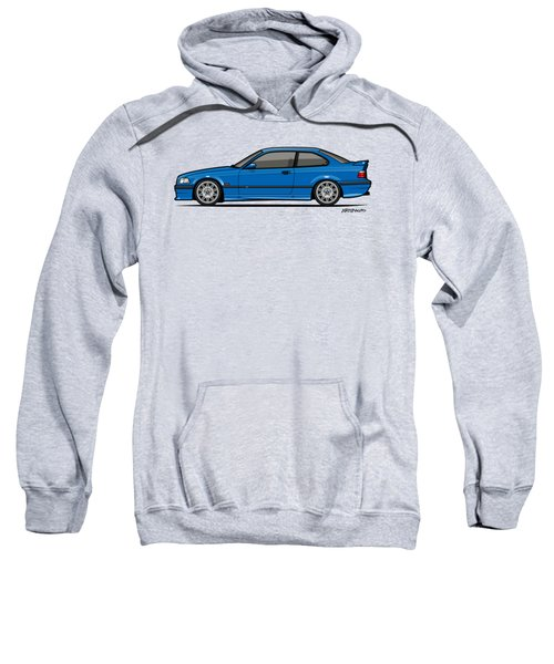 Bmw 3 Series E36 M3 Coupe Estoril Blue Sweatshirt