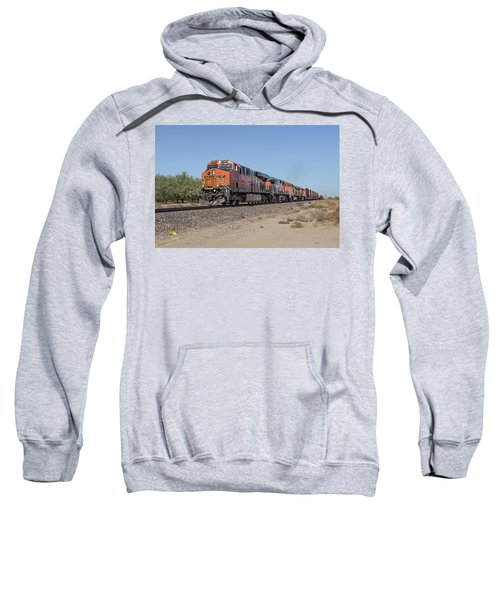 Sweatshirt featuring the photograph Bnsf7890 by Jim Thompson