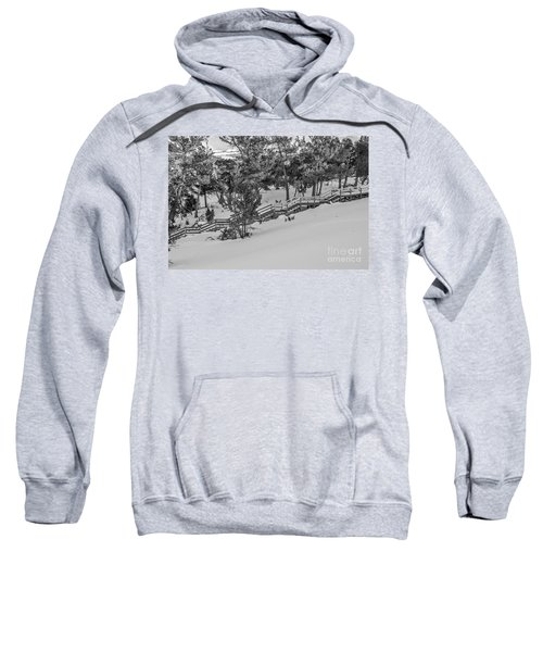 Boardwalk Climbing A Hill Sweatshirt