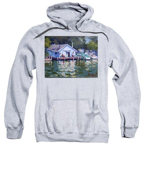 Boat House At Tonawanda Canal Sweatshirt