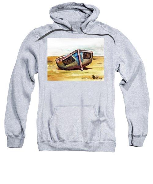 Boat On Beach Sweatshirt