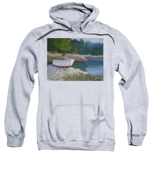 Boat On Tidal River Sweatshirt