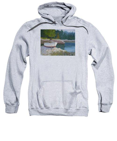 Boat On Tidal River Sweatshirt
