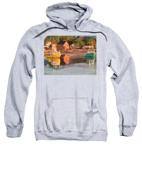 Boats In Kennebunkport Harbor Sweatshirt