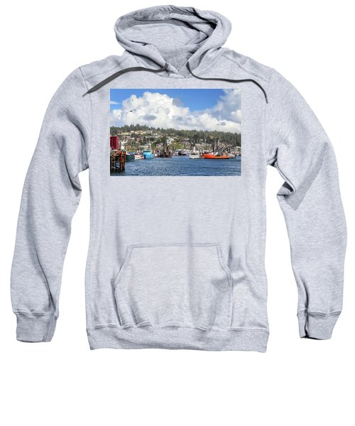 Boats In Yaquina Bay Sweatshirt