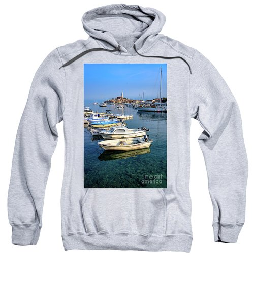 Boats Of The Adriatic, Rovinj, Istria, Croatia  Sweatshirt