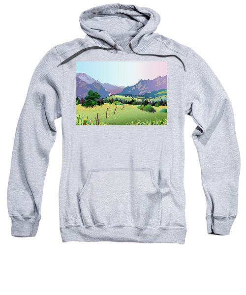 Bolder Boulder Poster 2009 Sweatshirt