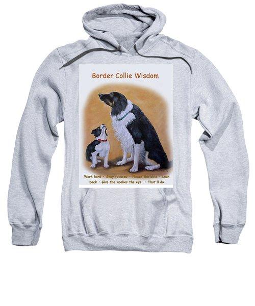 Border Collie Wisdom Sweatshirt