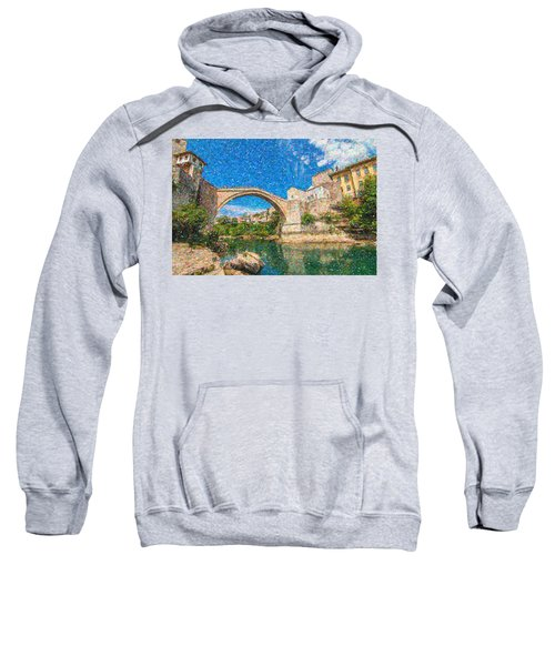 Bosnia Mostar Herzegovina Europe Travel Landmark Sweatshirt