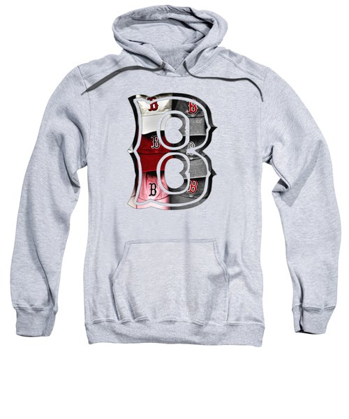Boston Red Sox B Logo Sweatshirt by Joann Vitali