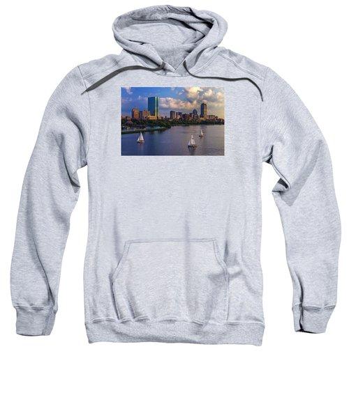 Boston Skyline Sweatshirt by Rick Berk