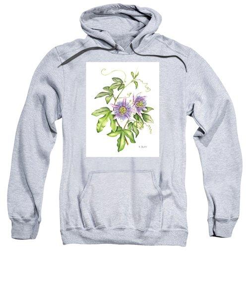 Botanical Illustration Passion Flower Sweatshirt