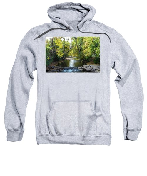 Boulder Creek Tumbling Through Early Fall Foliage Sweatshirt