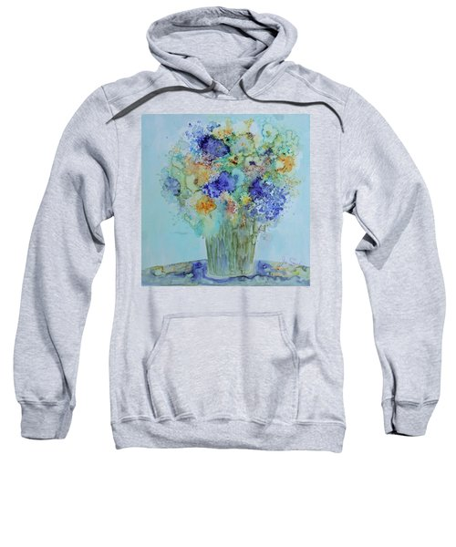 Bouquet Of Blue And Gold Sweatshirt