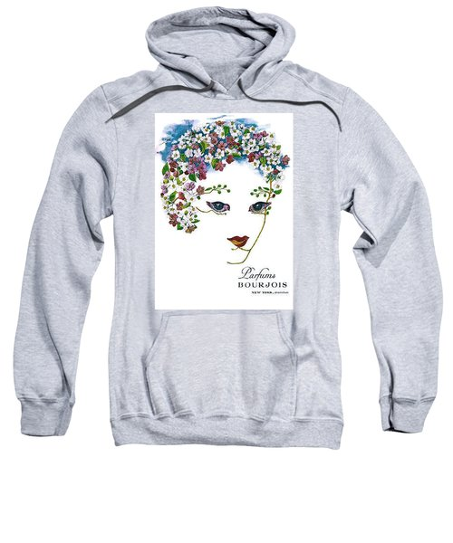 Sweatshirt featuring the digital art Bourjois by ReInVintaged