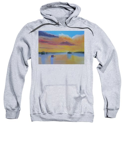 Bow Lake Ice Fishing Sweatshirt