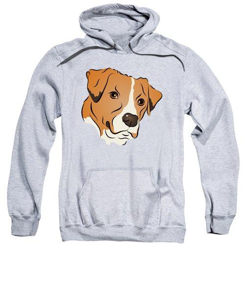 Boxer Mix Dog Graphic Portrait Sweatshirt