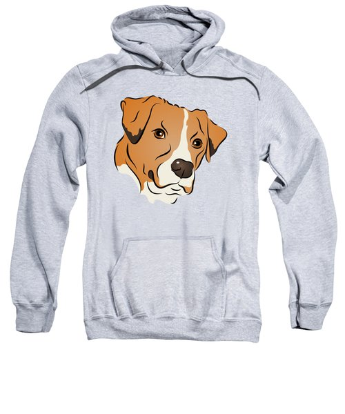 Boxer Mix Dog Graphic Portrait Sweatshirt