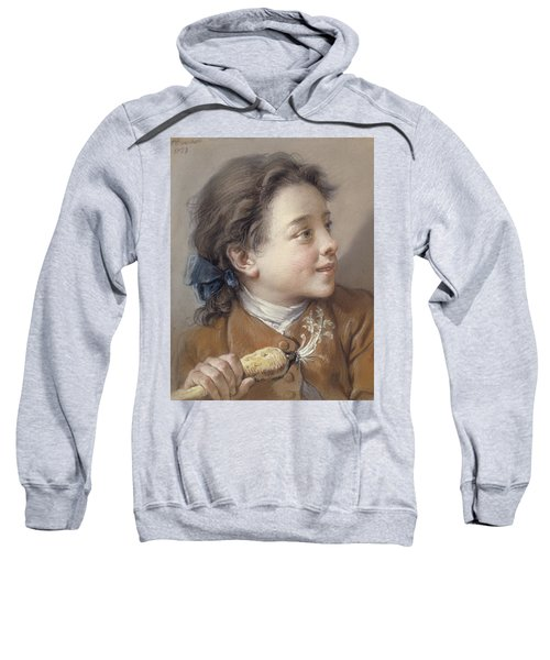Boy With A Carrot, 1738 Sweatshirt by Francois Boucher