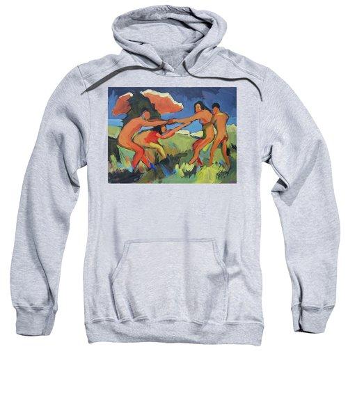 Boys And Girls Playing Sweatshirt
