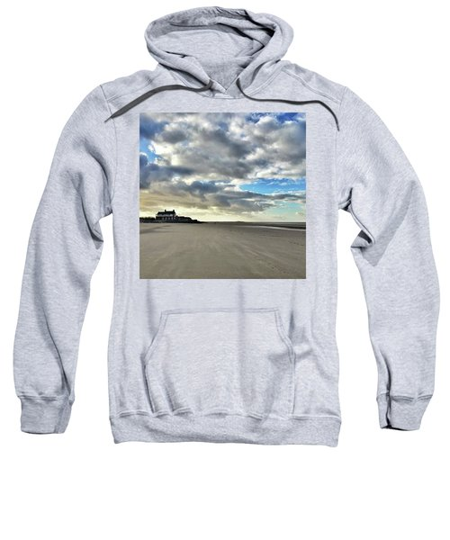 Brancaster Beach This Afternoon 9 Feb Sweatshirt by John Edwards