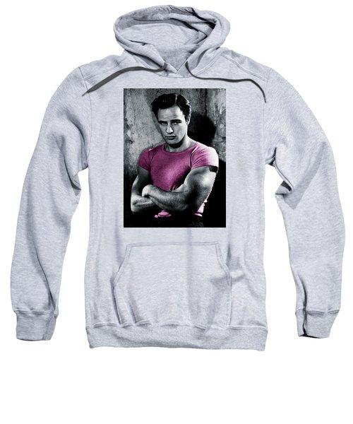 Brando In Pink Sweatshirt