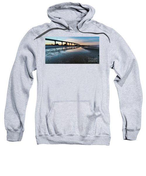 Bridge Over Beach, Port St Joe, Florida Sweatshirt
