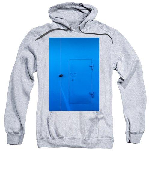 Bright Blue Locked Door And Padlock Sweatshirt