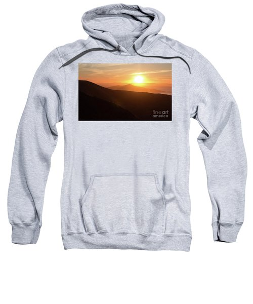 Bright Sun Rising Over The Mountains Sweatshirt