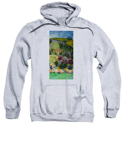 Brightly Colored Devon Landscape - Dartmouth England Sweatshirt