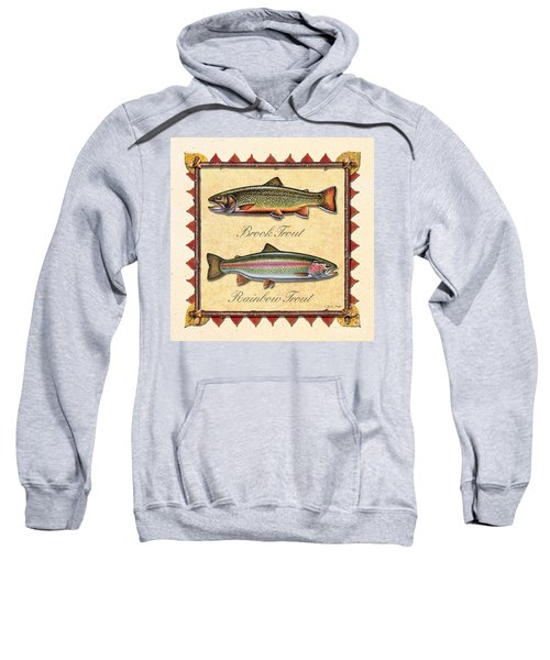 Brook And Rainbow Trout Creme Sweatshirt