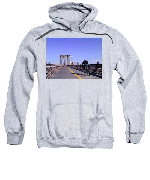 Brooklyn Bridge Bicyclist Sweatshirt