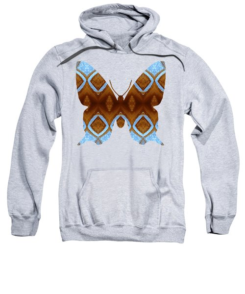 Brown And Blue Butterfly Sweatshirt