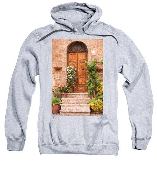 Brown Door Of Tuscany Sweatshirt